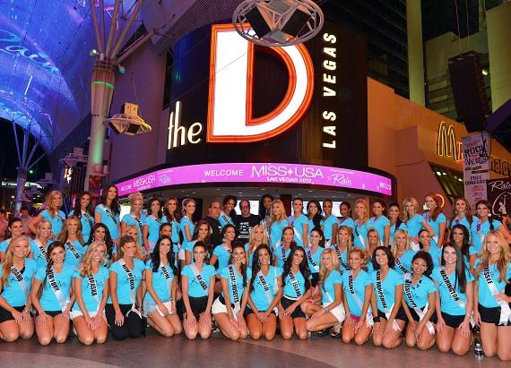 Miss USA contestants at The D Las Vegas