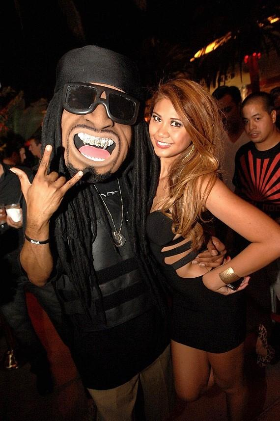 LiL Jon mascot at Surrender Nightclub