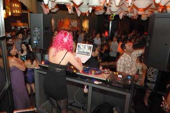 DJ Roxy Cottontail performs at Blush Boutique Nightclub