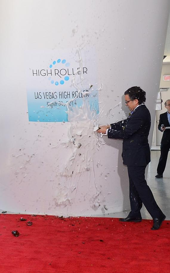 Tariq Shaukat at the official grand opening of The High Roller at The LINQ