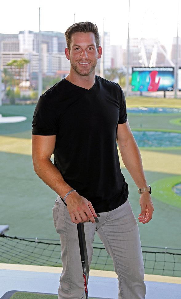 The Bachelorette's Chase McNary Visits Topgolf Las Vegas
