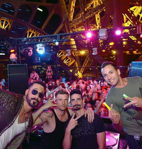 Backstreet Boys On Stage at Chateau Nightclub