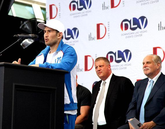 Bahodir Mamadjonov at Knockout Night at the D Press Conference