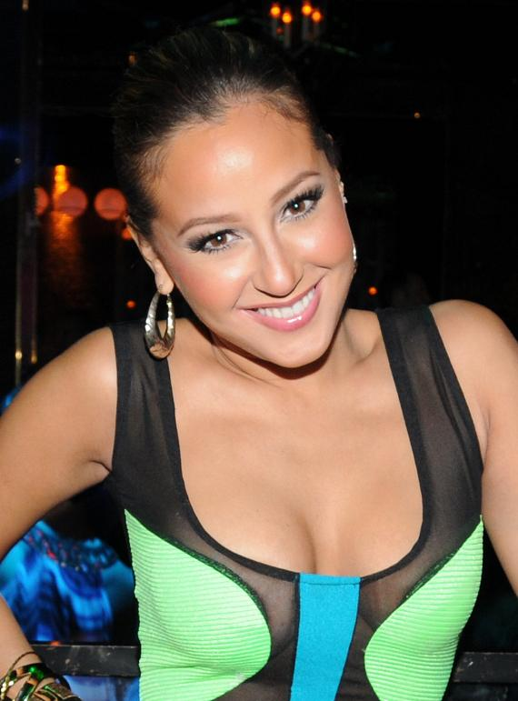 Adrienne Bailon in Vanity Nightclub