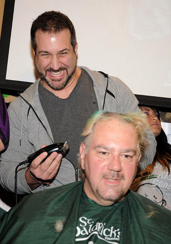 NSYNC's Joey Fatone shaves heads for St. Baldrick's Foundation
