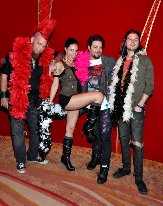 Bam Margera of MTV's hit show Jackass dresses up with friends at Zumanity – The Sensual Side of Cirque du Soleil at New York-New York