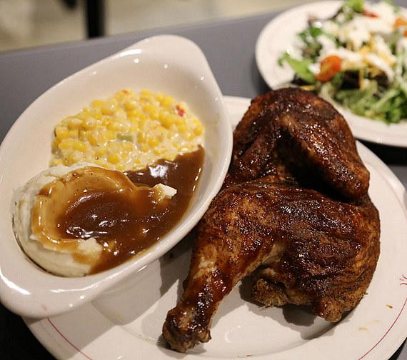 Barbecue Chicken Meal at The Wrangler Grill Grand Opening
