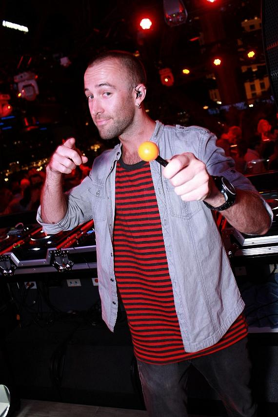 Bass Kleph in the DJ booth at BAZAAR in Las Vegas