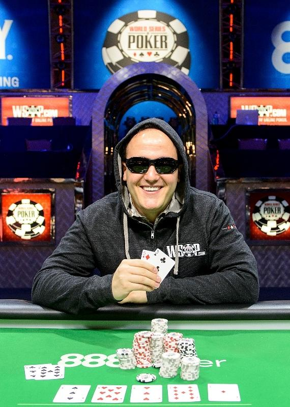 Battle of the News back-to-back winner Shawn Tempesta displays his winning hand