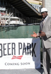 Former All-Star Athlete, Shaquille O'Neal, Spotted at Construction Site of Beer Park Las Vegas