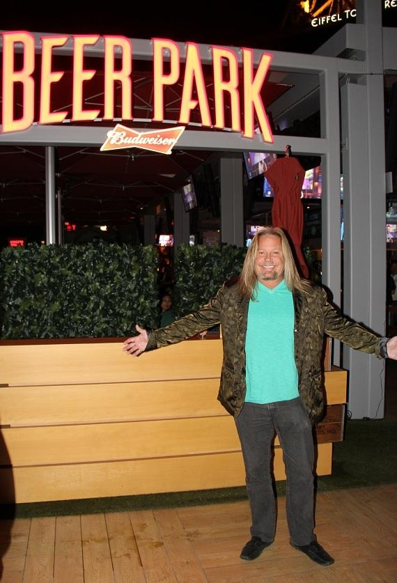Vince Neil with Beer Park Sign