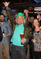 Mötley Crüe front man Vince Neil hosts St. Patrick's Day Party at Beer Park at Paris Las Vegas