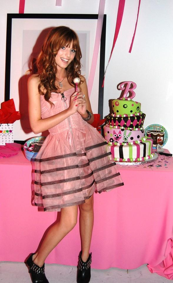 Disney star Bella Thorne celebrated her 13th birthday with a princess