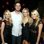 The Bachelor Ben Higgins and fiancé Laura Bushnell spotted at Marquee Nightclub in The Cosmopolitan of Las Vegas