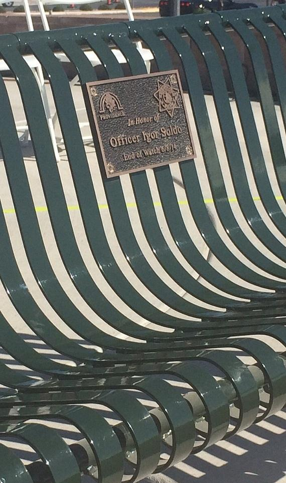Bench Dedicated to Officer Soldo
