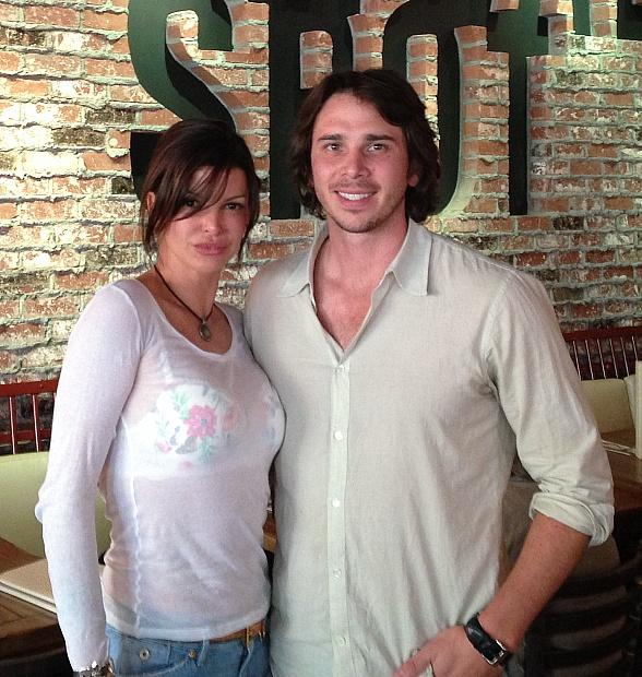 Chef Carla Pellegrino with Benjamin Flajnik