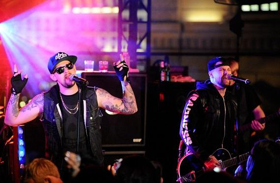 Joel and Benji Madden performing live at Chateau Nightclub & Gardens at Paris Las Vegas