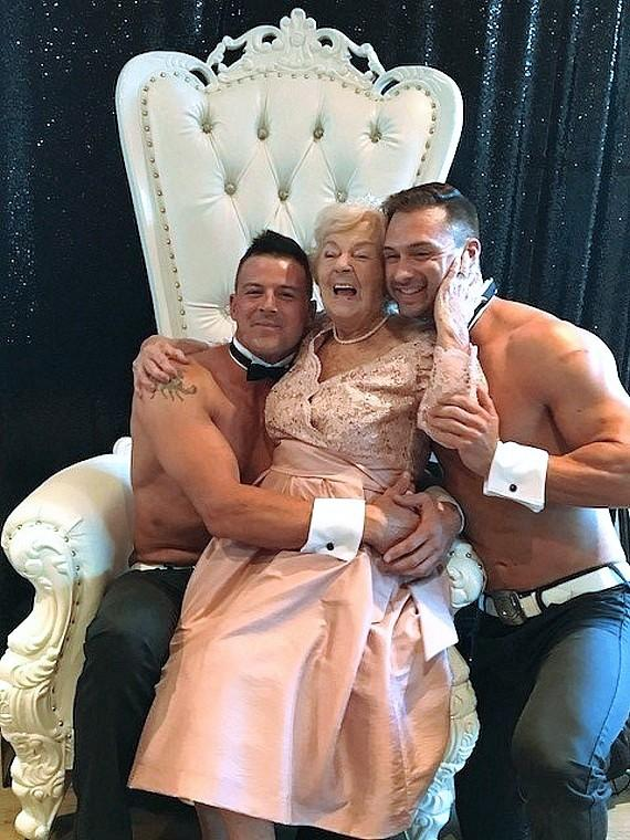 Chippendales Help Betty Fitzgerald Celebrate 90th Birthday