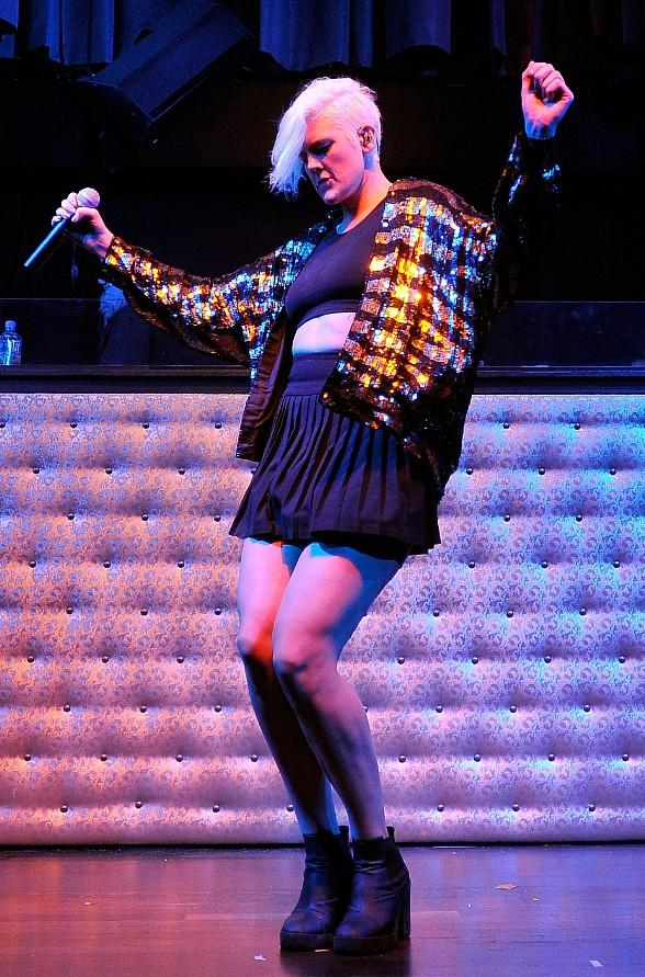 Betty Who Performs at Mardi Gras-Themed Party at LAX Nightclub
