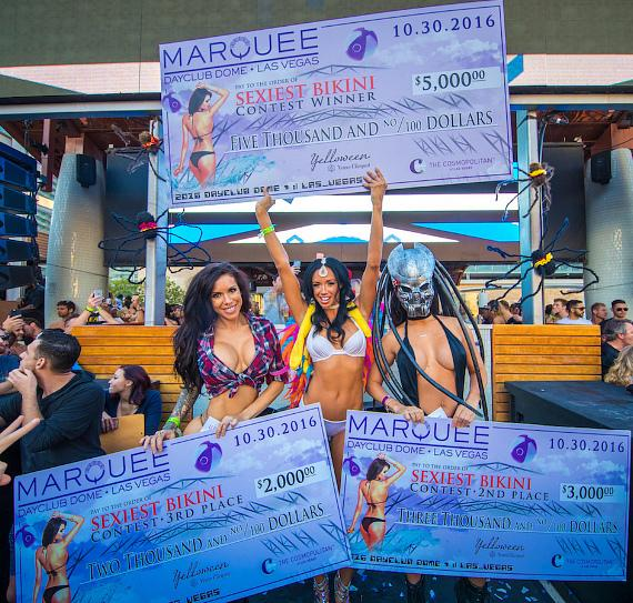 Bikini Contest Winners at Marquee Dayclub Dome