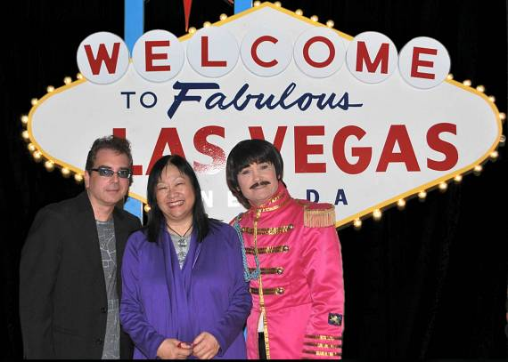 Billy Amendola, May Pang and BeatleShow's Bobby Taylor
