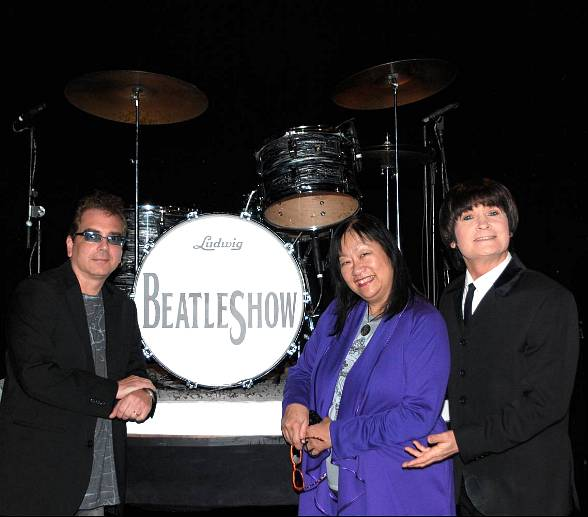 Billy Amendola and May Pang with BeatleShow's Bobby Taylor