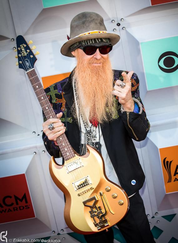 Billy Gibbons of ZZ Top at ACM Awards at MGM Grand in Las Vegas