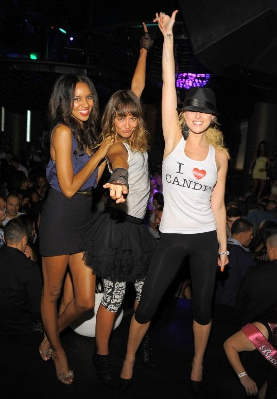 Elizabeth Mathis, Sharni Vinson and Sasha Jackson at Gallery Nightclub
