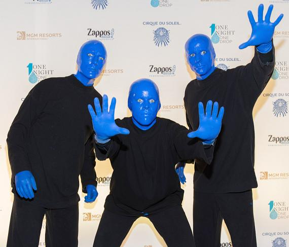 Blue Man Group at One Night for One Drop