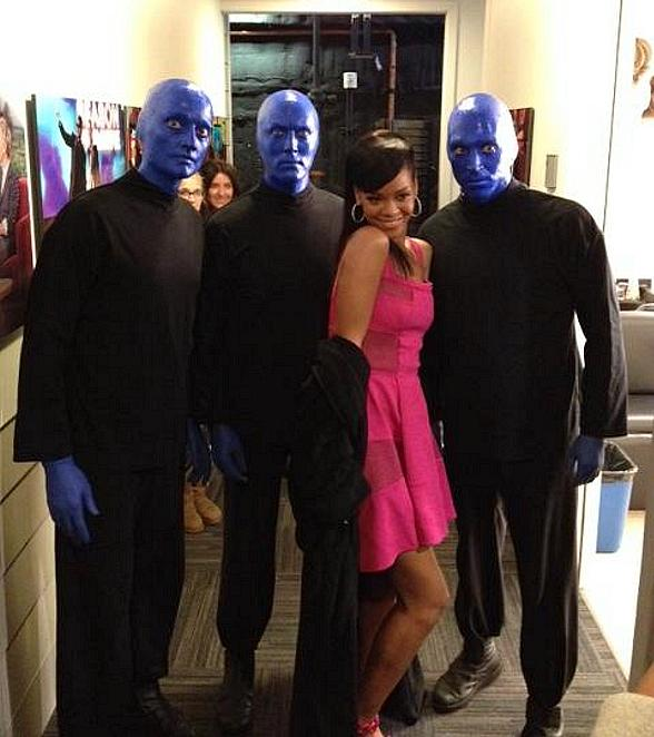 Blue Man Group with Rihanna