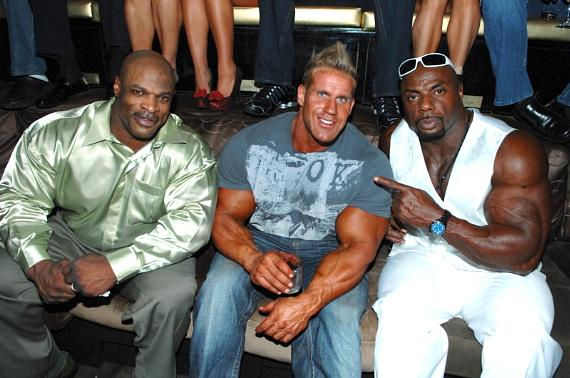 Mr. Olympia Jay Cutler with Ronnie Coleman and Tony Freeman at Blush