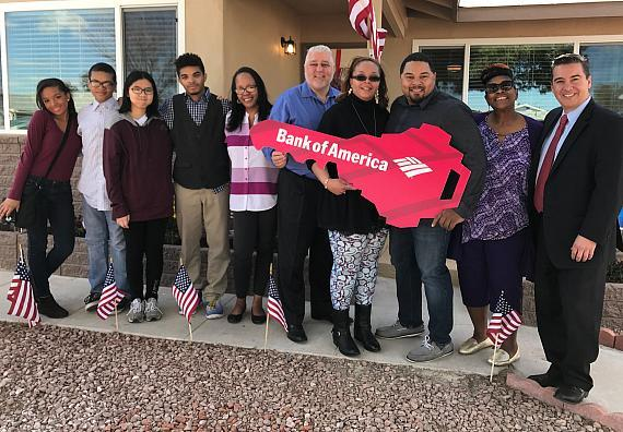 The Pizarro family joined by Bank of America and VAREP during special home donation event on Friday, Feb. 3.