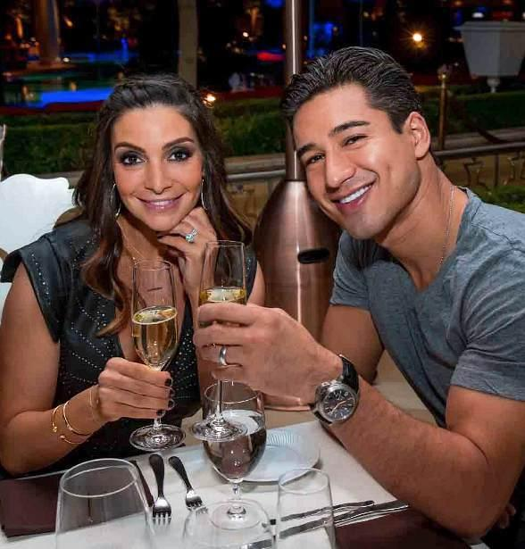 Courtney Mazza Lopez and Mario Lopez at Botero