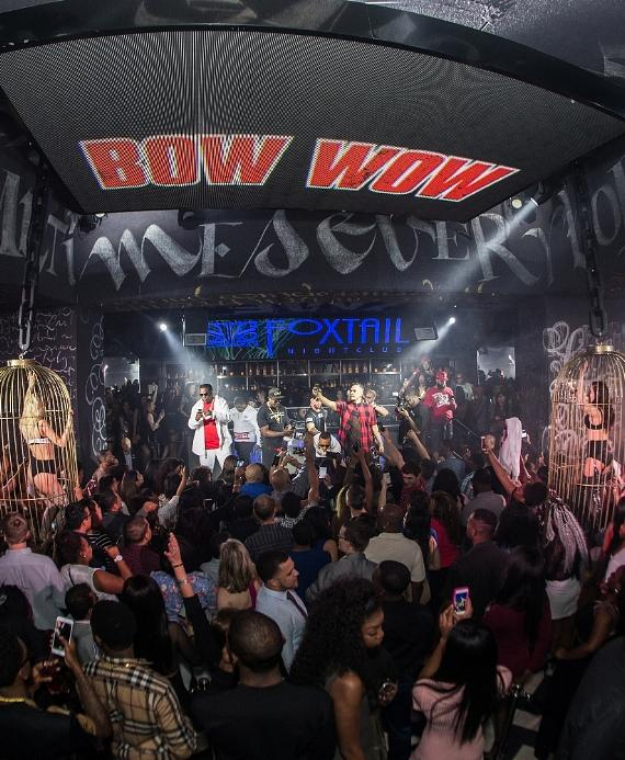 Bow Wow hyping up the crowd at Foxtail