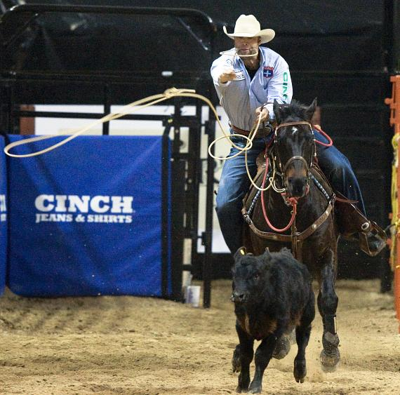 Boyd Gaming Chute-Out Tie-Down Roping First Place Michael Otero