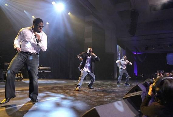 Boyz II Men perform at MJCI celebration at ARIA in Las Vegas