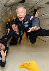 George Takei Celebrates Star Trek 50th Anniversary in Zero Gravity Alongside Biggest Fans