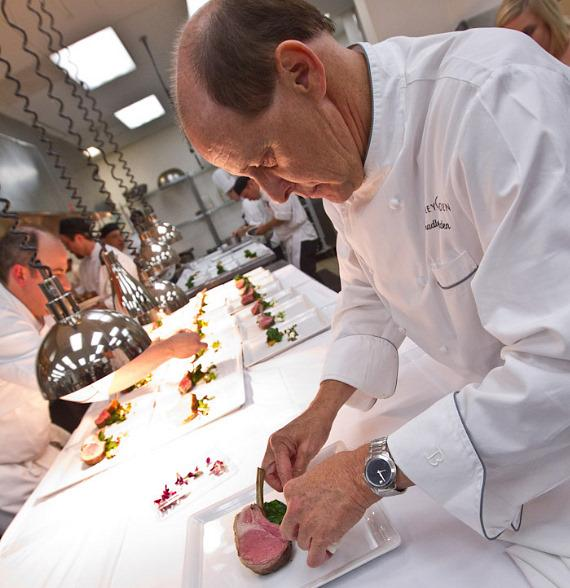 Chef Bradley Ogden - Seasonal, farm-fresh food was the star as Chef Bradley Ogden and Executive Chef Michael Gill prepared dishes like Colorado Lamb Chop Duo and Sonoma Foie Gras. The meal was paired with wines from Chateau Montelena and hosted by Bon Appétit Wine and Spirits Consultant, Steve Olson.