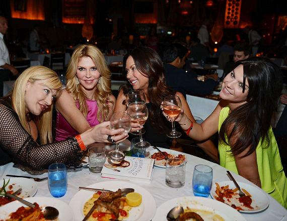 Brandi Glaville and friends toast book success at LAVO