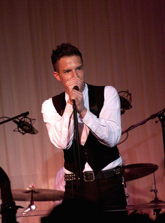 Brandon Flowers performs at PURE Nightclub