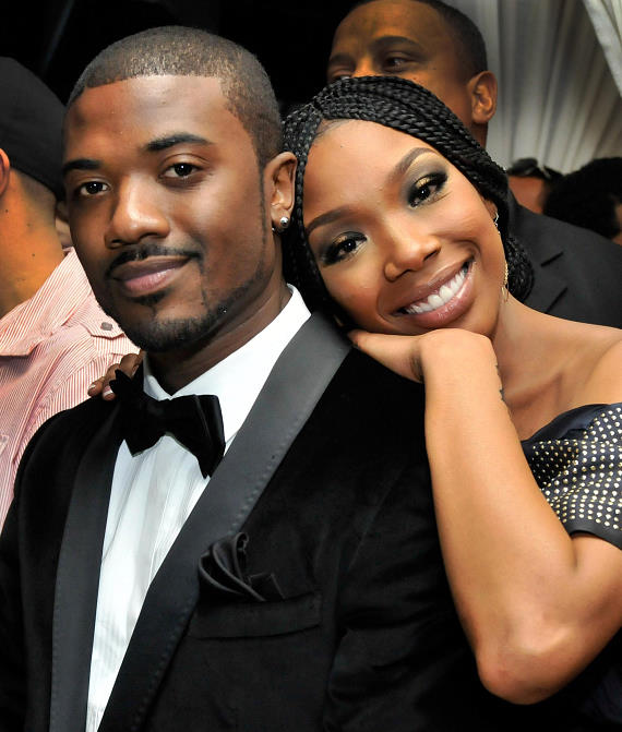 Ray J and sister Brandy at PURE Nightclub