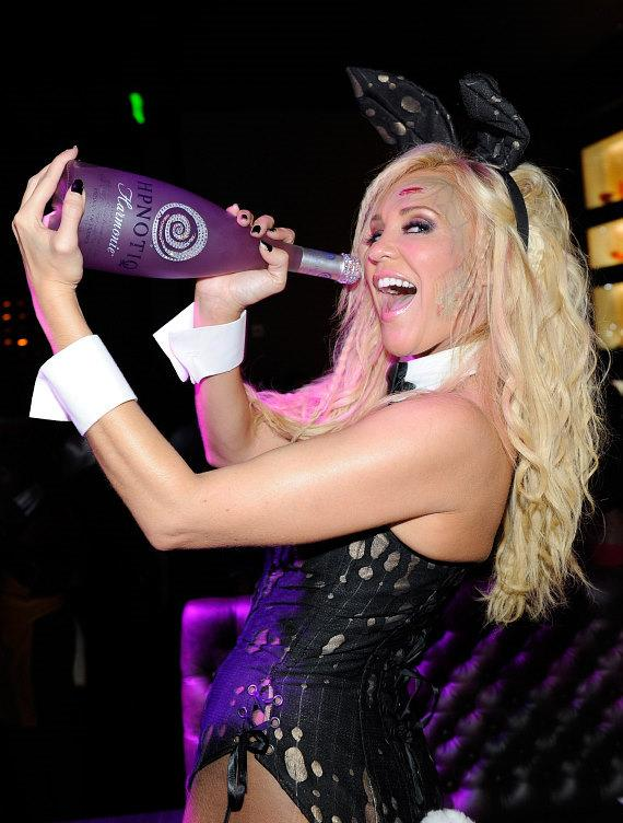 Bridget Marquardt celebrates Halloween sipping on HPNOTIQ Harmonie at Gallery Nightclub