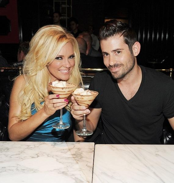 Bridget Marquardt and Nicholas Carpenter with S'mores cocktails at Sugar Factory American Brasserie