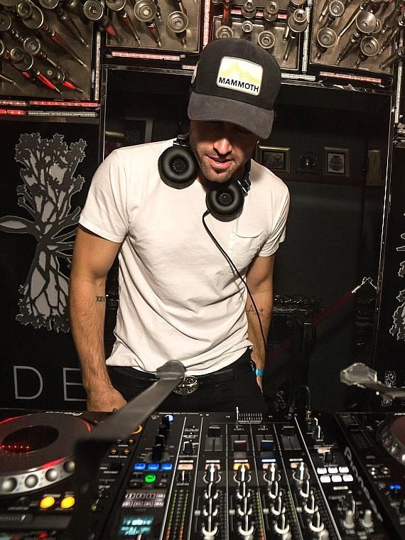Brody Jenner behind the turn tables at Hyde Bellagio in Las Vegas