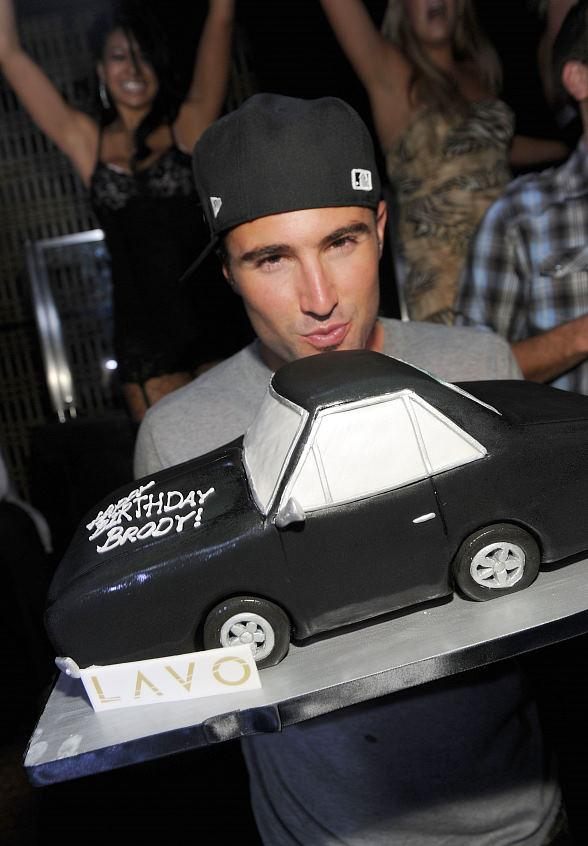 Brody Jenner with birthday cake at LAVO