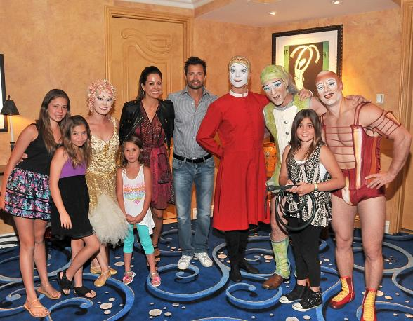 "Brooke Burke Charvet Enjoys ""O"" by Cirque du Soleil with Family"