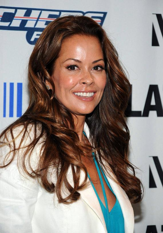 Brooke Burke at Skechers booth at MAGIC in Las Vegas