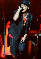 Bruno Mars performs at The Chelsea at The Cosmopolitan of Las Vegas on New Year's Eve