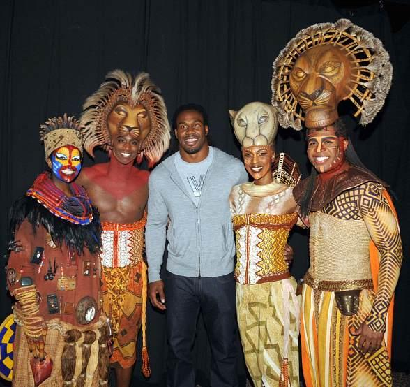 St. Louis Rams' Steven Jackson Enjoys THE LION KING at Mandalay Bay