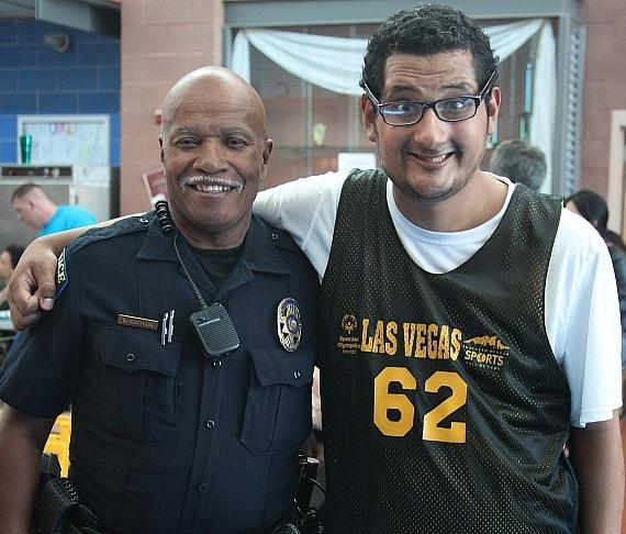 CCSD officer with Special Olympics Nevada athlete